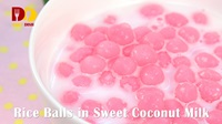 Rice Balls in Sweet Coconut Milk | Thai Dessert | บัวลอย | Bua Loi